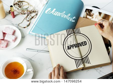 Approved Authentic Quality Guaranteed Product Concept poster