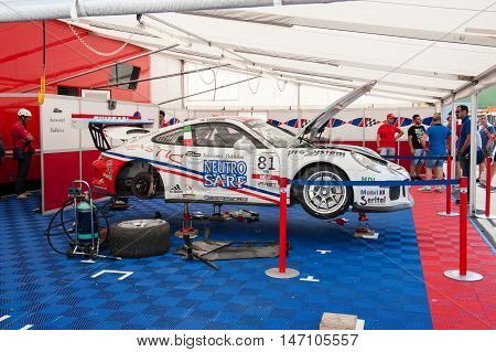 Vallelunga, Rome, Italy. September 10Th 2016. Fine Tuning Porsche Carrera