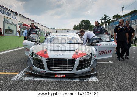 Vallelunga, Rome, Italy. September 10Th 2016. Audi R8 On Starting Line