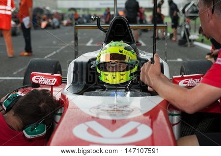 Vallelunga, Rome, Italy. September 10Th 2016. Formula 4 Championship, Mick Schumacher On Starting Li