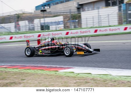 Vallelunga, Rome, Italy. September 10Th 2016. Formula 4 Championship, Diego Bertonelli In Action