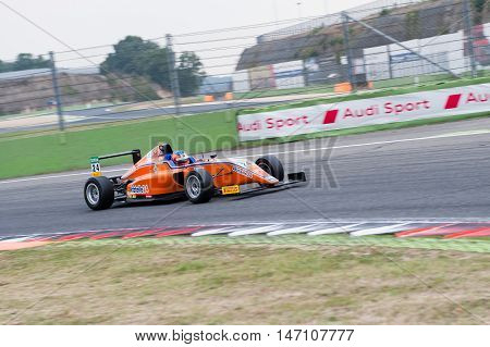 Vallelunga, Rome, Italy. September 10Th 2016. Formula 4 Championship, Devlin De Francesco In Action