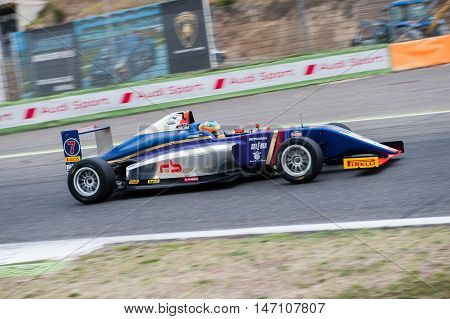 Vallelunga, Rome, Italy. September 10Th 2016. Formula 4 Championship, Sebastian Fernandez In Action