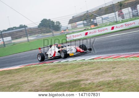 Vallelunga, Rome, Italy. September 10Th 2016. Formula 4 Championship, Artem Petrov In Action