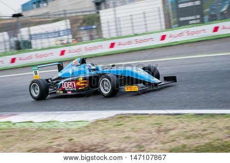 Vallelunga, Rome, Italy. September 10Th 2016. Formula 4 Championship, Marcos Siebert In Action