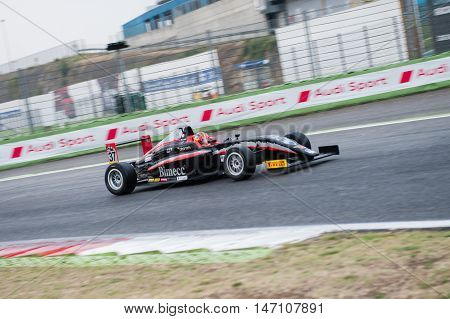 Vallelunga, Rome, Italy. September 10Th 2016. Formula 4 Championship, Lorenzo Colombo In Action