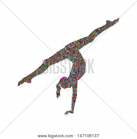 illustration of a young athlete who practices gymnastics