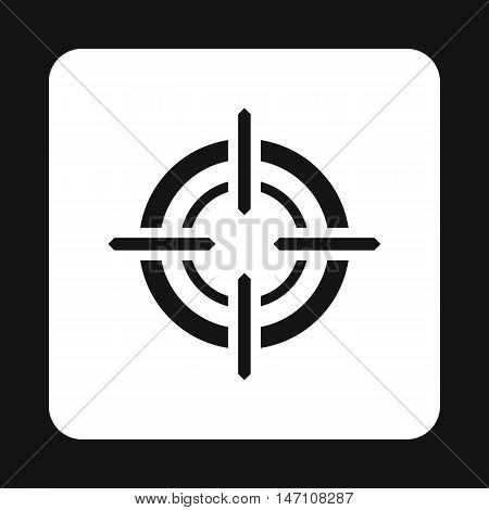 Crosshair reticle icon in simple style on a white background vector illustration
