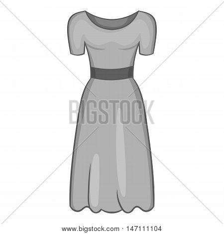 Womens fancy dress icon in black monochrome style isolated on white background. Clothing symbol vector illustration