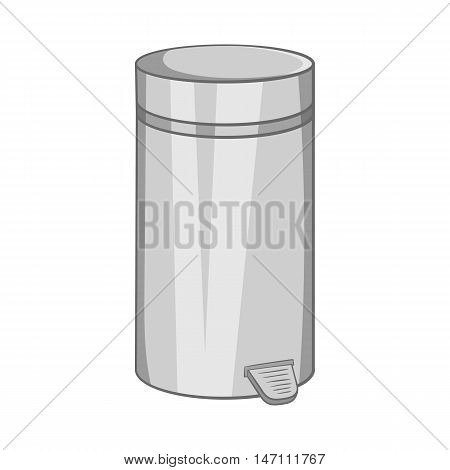 Home trash icon in black monochrome style isolated on white background. Garbage symbol vector illustration