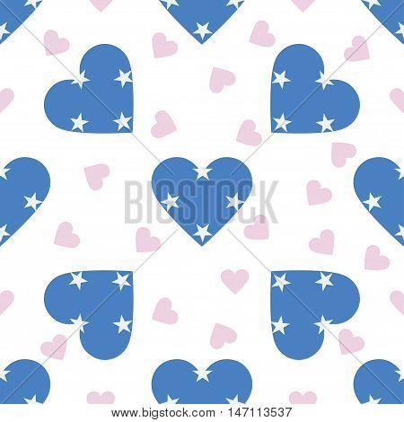 Micronesia, Federated States Of Independence Day Seamless Pattern. Patriotic Background With Country