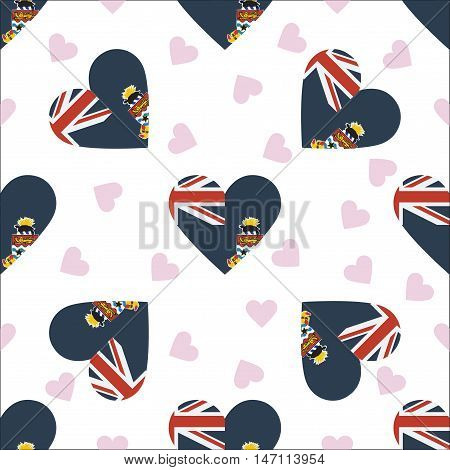 Cayman Islands Independence Day Seamless Pattern. Patriotic Background With Country National Flag In