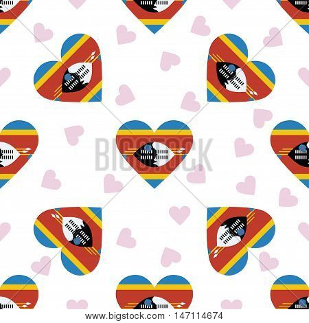 Swaziland Independence Day Seamless Pattern. Patriotic Background With Country National Flag In The