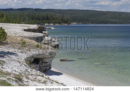 Yellowstone Lake Cliffs