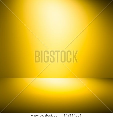abstract empty room orange-yellow background. abstract light background. Hot with space for your message / empty room studio gradient used for background and display your product