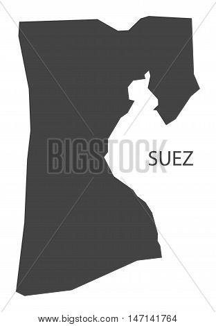 Suez Egypt Map grey vector high res