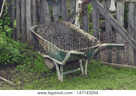 Manure in a backyard of Albanian house in Lepushe