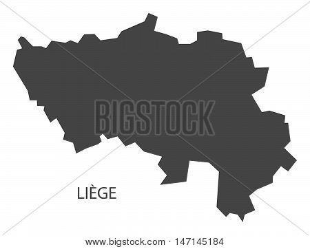 Liege Belgium Map in grey vector high res