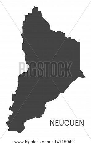Neuquen Argentina Map grey vector high res