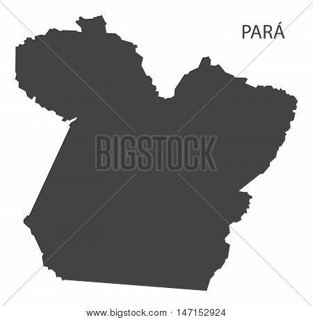 Para map grey brazil vector high res