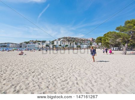 Santa Ponsa Beach With Soft White Sand