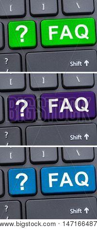 Faq Text And Question Symbols