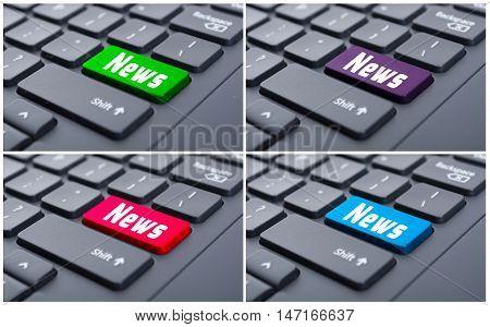 News Key On Keyboard Computer
