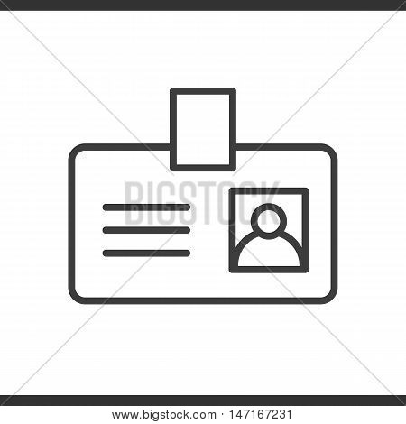 Badge linear icon. Pass thin line illustration. Vector isolated outline drawing