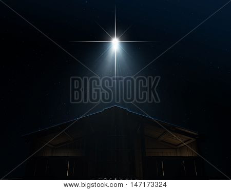 Abstract Nativity Scene