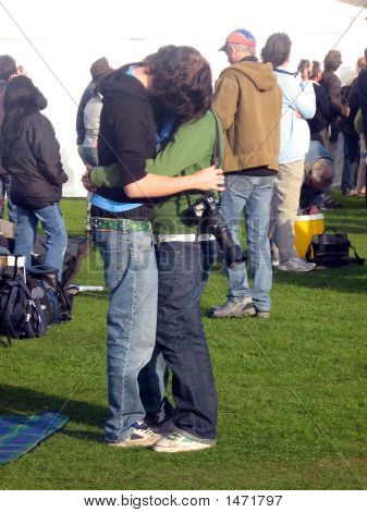 Couple Hugging Each Other. Love.