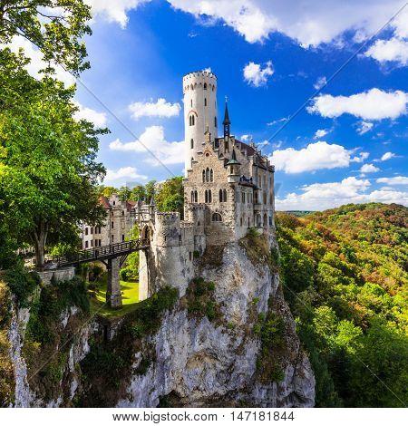 Most beautiful castles of Europe - Lichtenstein . Germany
