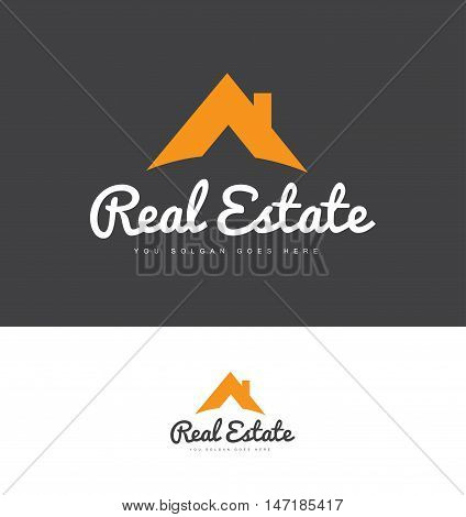 Real estate house roof vector logo icon design