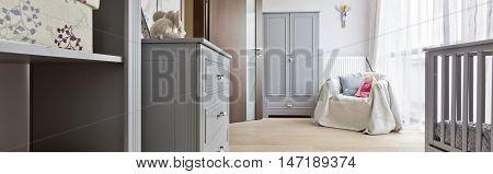 Beautiful Light Baby Room Idea