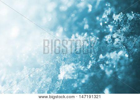 Blue Snow Backround