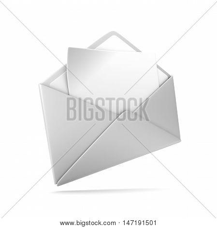 blank envelope 3d illustration isolated on white background