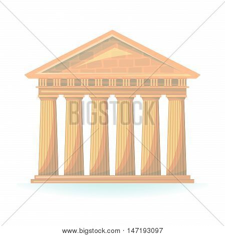 Ancient Temple of Hermes vector illustration isolated on background