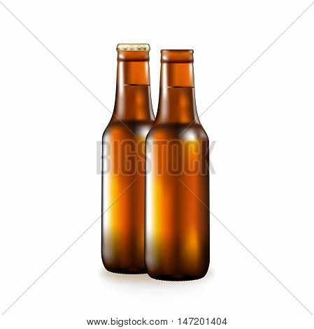 Bottle with beer, popular alcoholic drink, dark glass of a container, a metal cover, a vessel for liquid, bitter binge, intoxicated beer