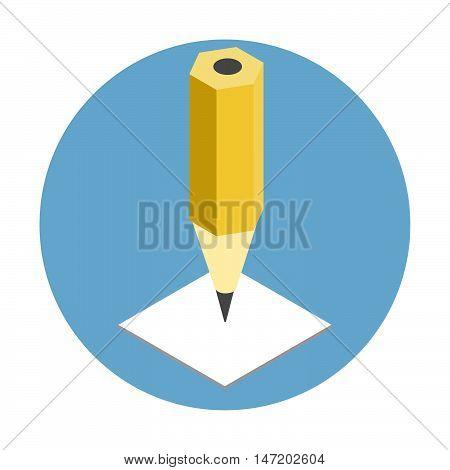 Pen Isometric Icon