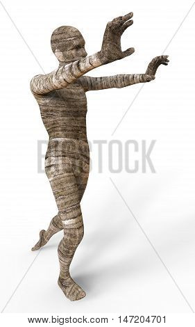 3D Illustration Of A Mummy Isolated on White poster