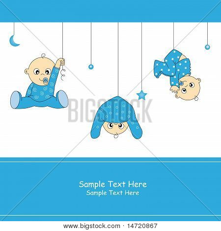 baby boy playing