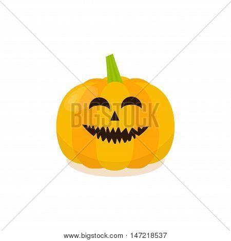 Halloween Pumpkin Icon. Isolated pumkin vector illustration. Cartoon style.