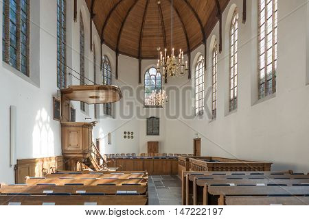 NETHERLANDS - DELFT - MEDIA SEPTEMBER 2016: Chapel Museum Prinsenhof in Delft Netherlands.