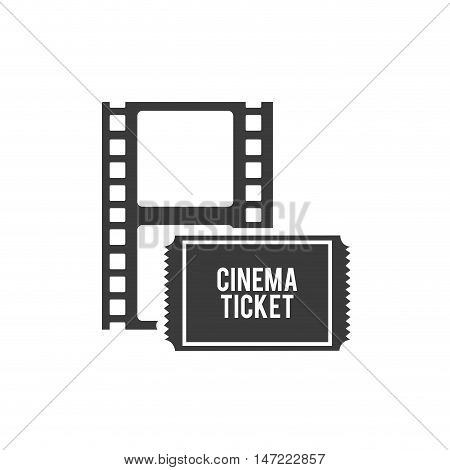 tape record with cinematographic icon vector illustration design