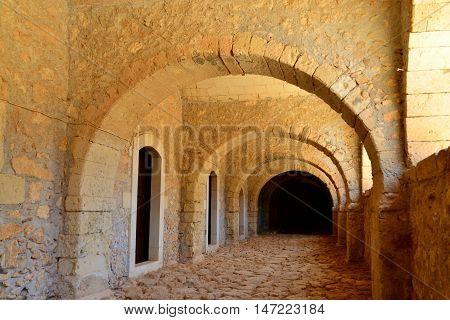Arkadi Greek Monastery church landmark architecture detail