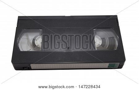 VHS Cassette isolated on white background. Above view