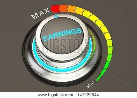 earnings concept highest level of earnings. 3D rendering