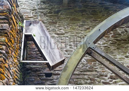 Chute that fed old overshot water wheel.