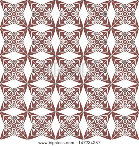 Vintage Retro floral ornament pattern. Vector abstract decor for backgrounds, texture, fabric, textile, cards. taupe color