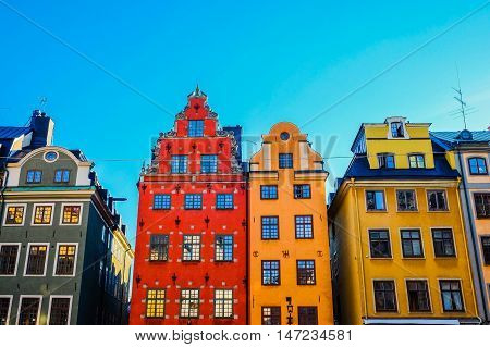Stortorget is a small public square in Gamla Stan the old town in central Stockholm Sweden. It is the oldest square in Stockholm