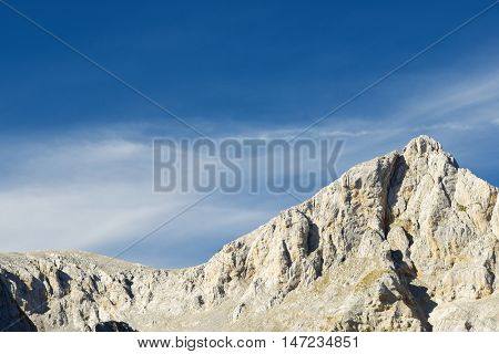 Peaks in Lescun Cirque. Aspe Valley, Pyrenees, France.